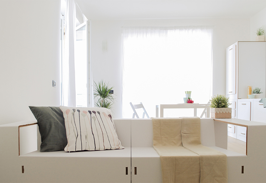 Home Staging mobili cartone