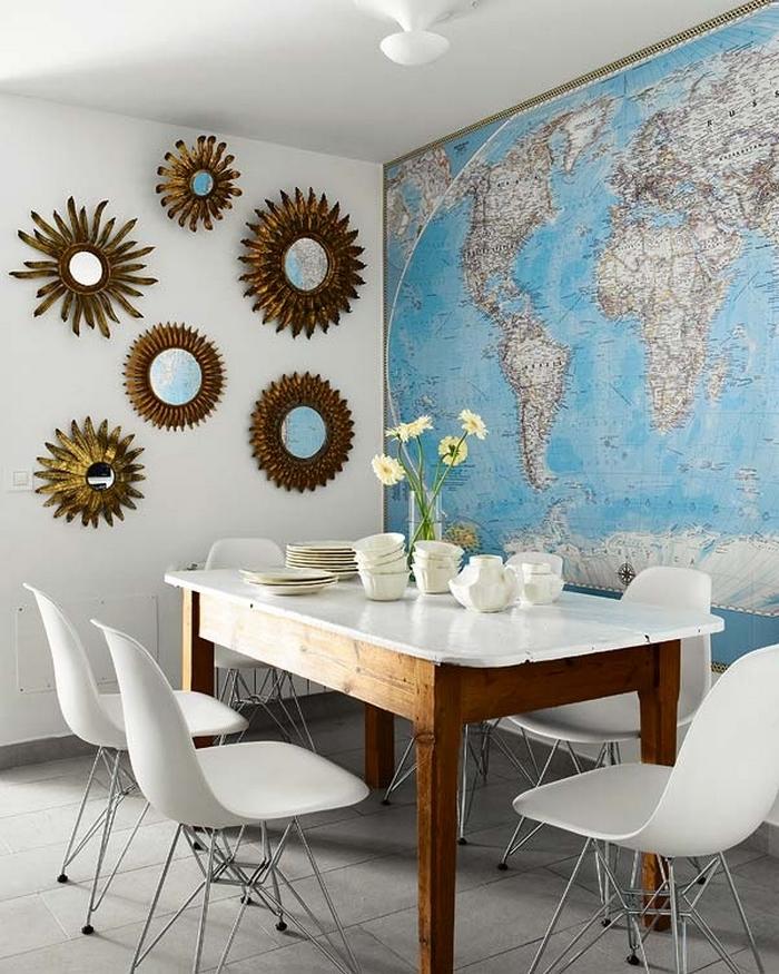 rinnovare casa con le cartine geografiche