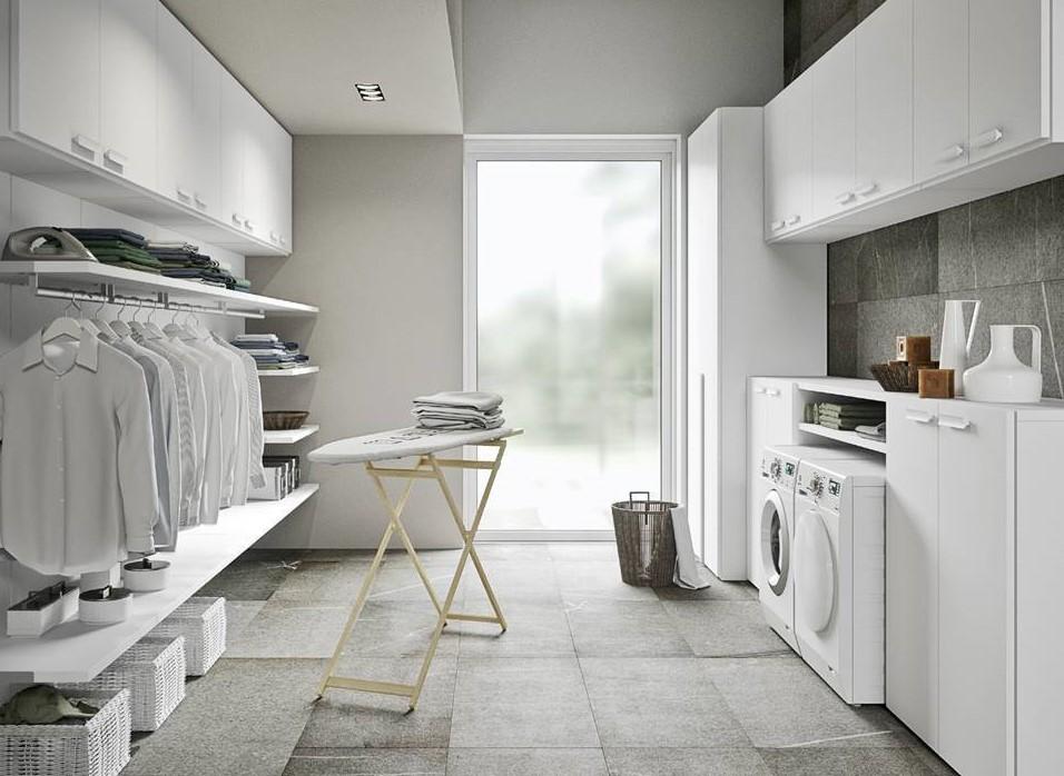 lavanderia in un vano indipendente