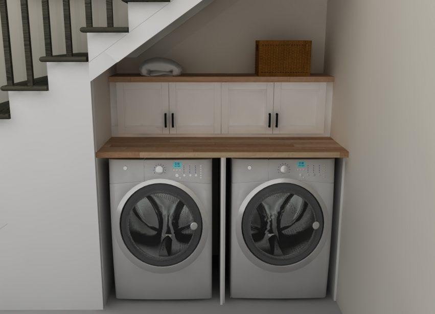lavanderia sottoscala