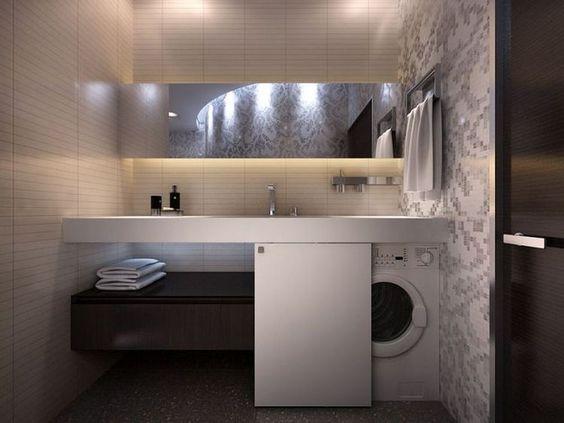 lavatrice nel mobile lavabo